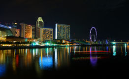Night scene of Singapore Stock Photography