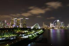 Night scene of Singapore city Stock Image