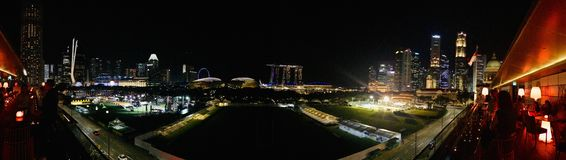 Night Scene Singapore Commercial centre royalty free stock images