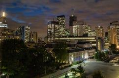 Night scene skyline of Toronto Canada stock photo