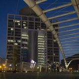 Night Scene Skywalk Bridge,Tel-Aviv ,Israel Stock Photos