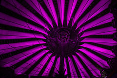 Sony center dome night scene. Night scene of the Sony Center, at Potsdamer platz, Berlin Royalty Free Stock Photos