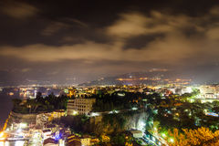 Night scene of Sorrento. Amalfi coast, Italy Royalty Free Stock Photography