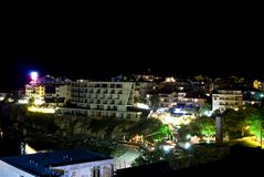 Night scene of Sozopol, Bulgaria. Night scene of Sozopol in Bulgaria royalty free stock photography