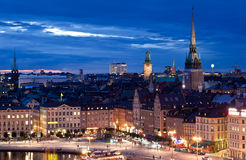 Night scene of the Stockholm Stock Photo