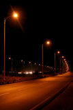 Night Scene. Of a street  with street lights. Shot at around 8pm in the evening Stock Photography
