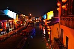 Night scene of Su Zhou (SuZhou) China Royalty Free Stock Photos