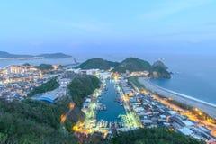Night scene of Suao Harbor in Taiwan Royalty Free Stock Image
