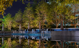 Night scene of swimming pool Royalty Free Stock Photo
