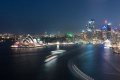 Night scene of Sydney Opera House Stock Images