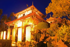 Night Scene of Tainan Chihkan Tower in Taiwan Royalty Free Stock Images