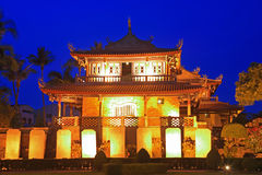 Night Scene of Tainan Chihkan Tower in Taiwan Stock Photography