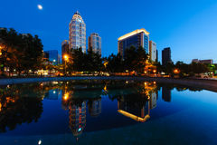 Night scene of  Taipei city Stock Images
