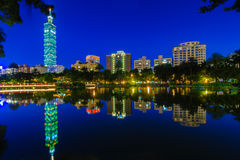 Night scene of Taipei city Royalty Free Stock Images