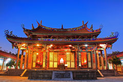 Night Scene of Taipei Confucius Temple in Taiwan Royalty Free Stock Photo