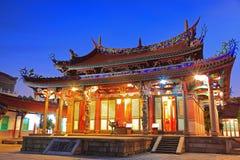 Night Scene of Taipei Confucius Temple in Taiwan Stock Photo