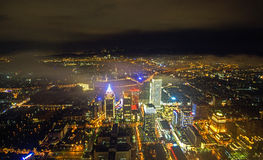 Night scene of Taipei (Tai Bei, Taiwan) Royalty Free Stock Photography