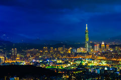 Night scene of Taipei, Taiwan Stock Photo