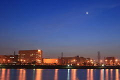 Night Scene of  Technology Industrial Park,Taiwan Royalty Free Stock Photos