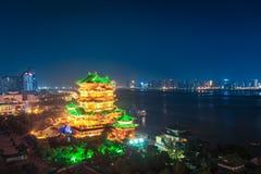 Night scene of the tengwang pavilion. In nanchang ,China Stock Photo