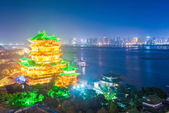 Night scene of the tengwang pavilion in nanchang Royalty Free Stock Photo