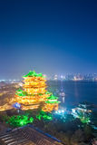 Night scene of the tengwang pavilion in nanchang Stock Image