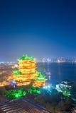 Night scene of the tengwang pavilion in nanchang Stock Image