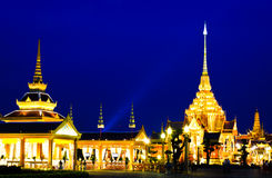 Night scene of Thai Royal Crematorium Stock Photography