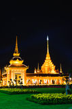 Night scene of Thai Royal Crematorium Royalty Free Stock Photos
