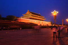 Night scene of the Tiananmen Gate Royalty Free Stock Photos