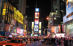 Night Scene at Time Square Royalty Free Stock Photos