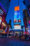 Night scene at Times Square, Manhattan, New York City Royalty Free Stock Photography
