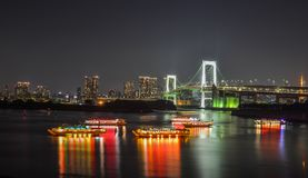Night scene of Tokyo Bay royalty free stock images