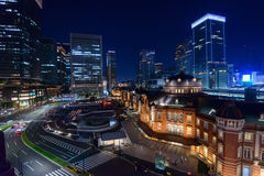 Night scene of Tokyo Station Royalty Free Stock Image