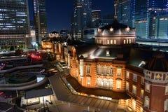 Night scene of Tokyo Station Royalty Free Stock Photos