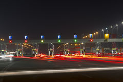 Toll station stock image