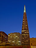 Night Scene of Transamerica pyramid Royalty Free Stock Photo