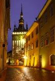 Night scene in Transylvania, Romania. Royalty Free Stock Images