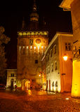 Night scene in Transylvania, Romania. Royalty Free Stock Photography