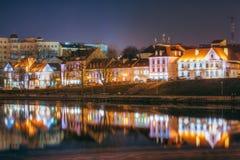 Night Scene Trinity Hill In Minsk, Downtown Nemiga Stock Photography