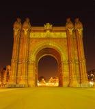 Triumphal Arch in Barcelona Stock Photos