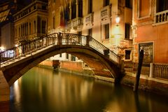 Night scene in Venice royalty free stock images