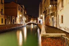 Night scene in Venice Royalty Free Stock Photo