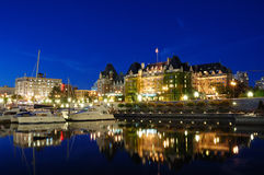 Night scene of victoria Royalty Free Stock Image