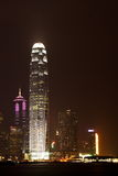 Night scene of the Victoria Harbour - Hong Kong royalty free stock photography