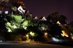 Night scene of the villas in Gulangyu(Xiamen) Royalty Free Stock Photography