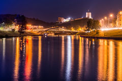 Night scene of Vilnius Stock Photography