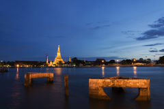 Night scene of Wat Arun Royalty Free Stock Photo