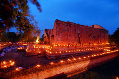 Night scene at wat mahae yong temple, Ayuttaya, Thailand Stock Images