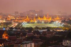 Night Scene of Wat Phra Kaew Stock Photos